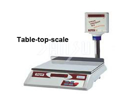 Easy weighing on the table!