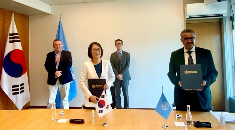The Republic of Korea and WHO sign new Memorandum of Understanding, committing US$ 6 million in COVID-19 PCR test kits for 24 countries in the African region