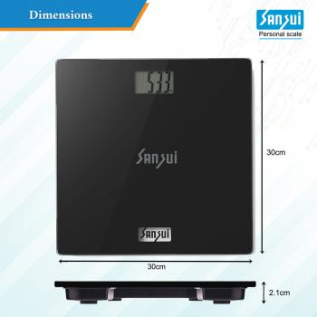 Sansui Digital Personal Human Body Weighing Scale black