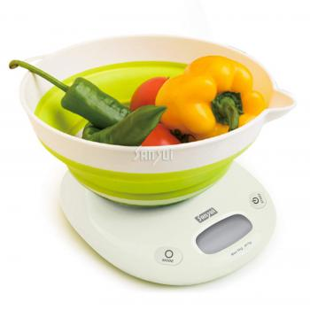 Sansui Kitchen Scale Bowl Foldable Round White