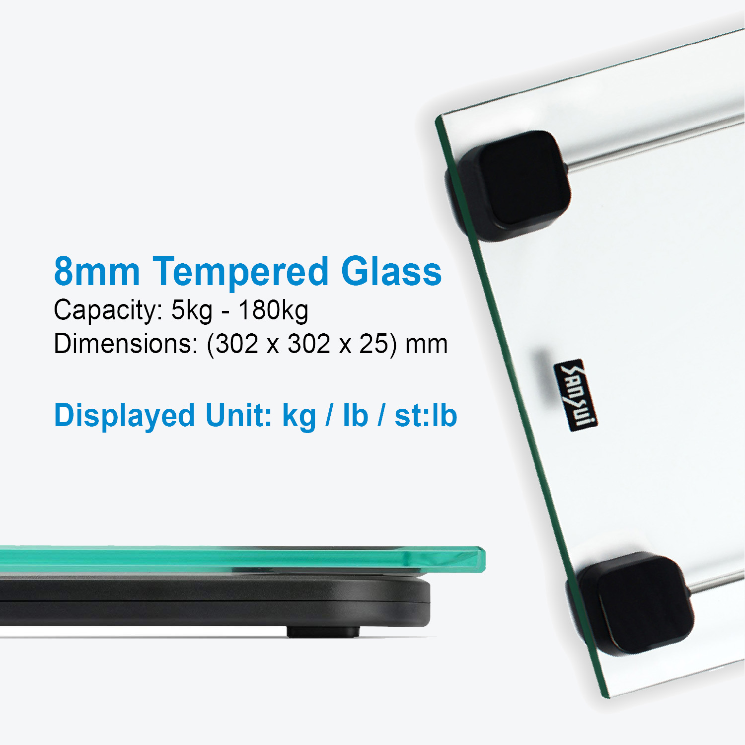 Sansui Personal Scale Transparent